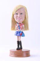 School Girl Bobblehead