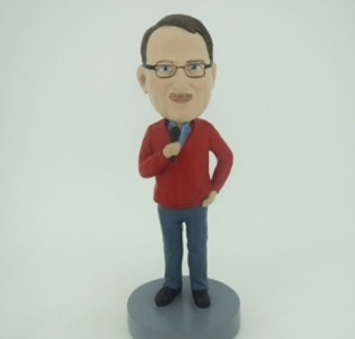 Man with Mic 2 Bobblehead