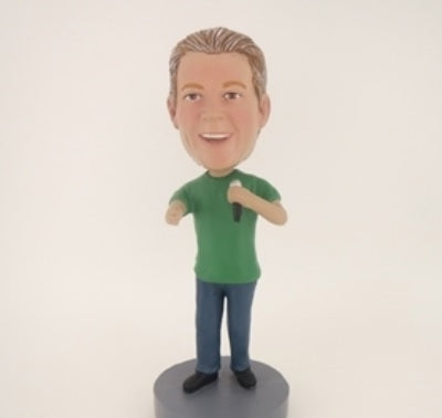 Man with Mic Bobblehead