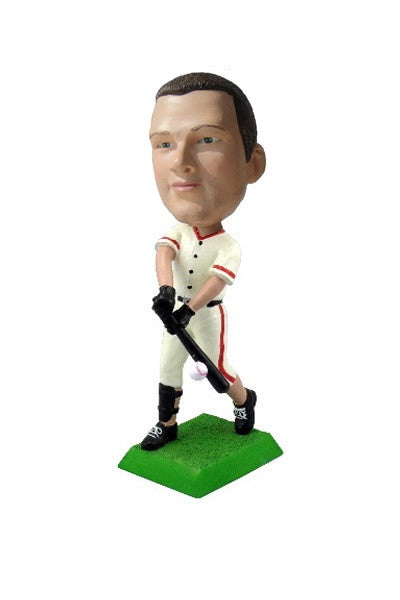 Baseball Player Batting Lefty 2 Bobblehead (Knee High Pants)
