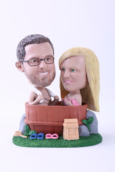 Couple in Jacuzzi Bobblehead
