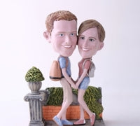 Couple Taking a Stroll Bobblehead