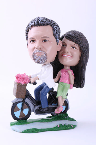 Couple on Bicycle Bobblehead