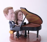 Couple Playing Piano Bobblehead