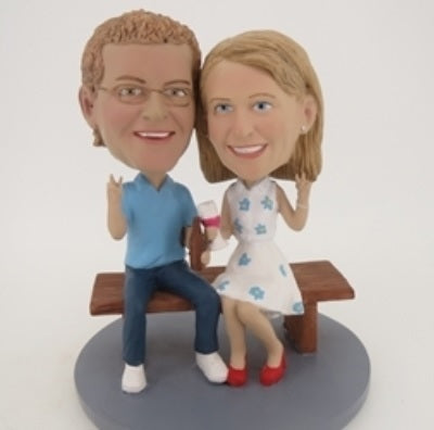 Couple Sitting Together Bobblehead