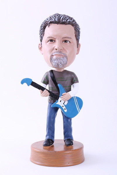 Electric Guitar Player Bobblehead