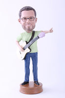 "Guitar Player Bobblehead 1 (9"" Tall)"