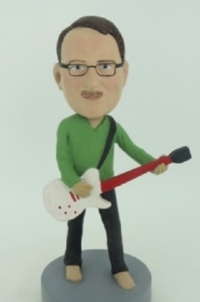 Electric Guitar Player 2 Bobblehead