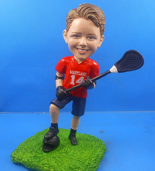 Lacrosse Player Bobblehead