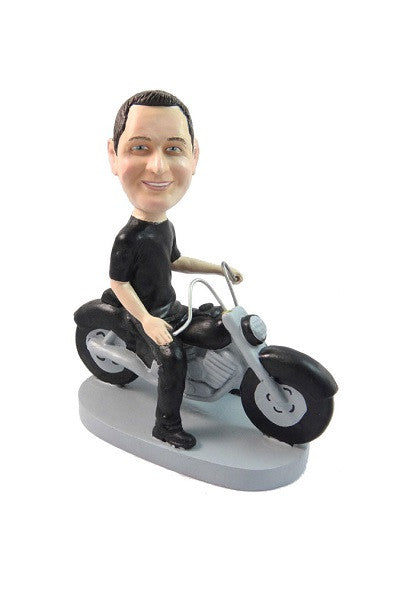 Motorcycle Rider Bobblehead