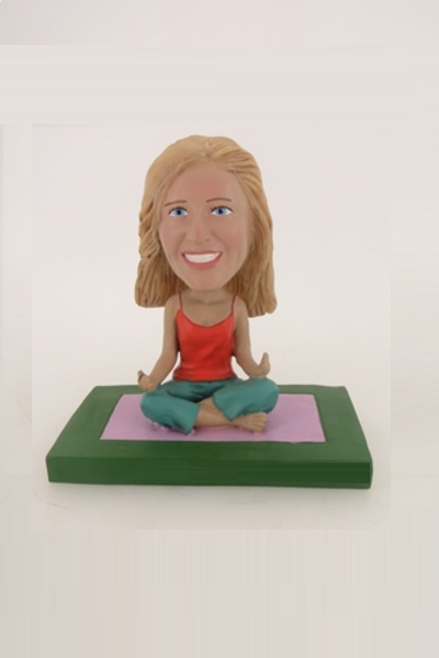 Doing Yoga Bobblehead