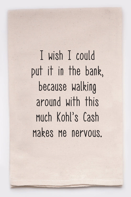 I wish I could put it in the bank, because walking around with this much Kohl's cash makes me nervous