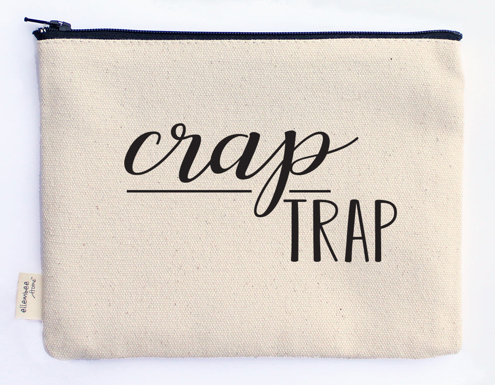 crap trap zipper pouch