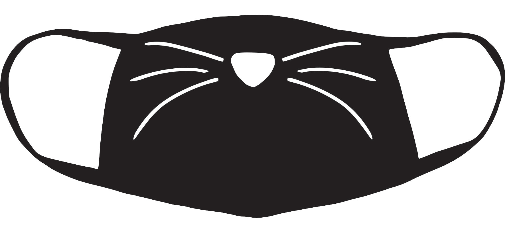 Kitty whiskers two-ply face mask