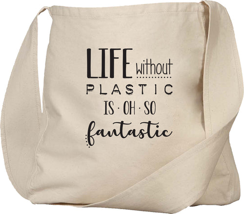 life without plastic is oh so fantastic tote bag
