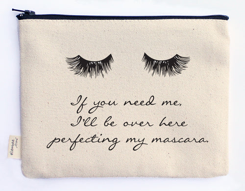 I'll be over here perfecting my mascara zipper pouch