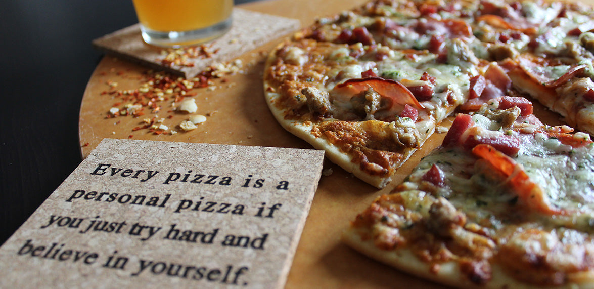 every pizza is a personal pizza if you just try hard and believe in yourself