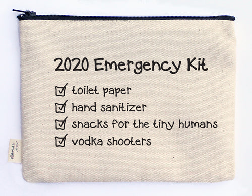 2020 emergency kit zipper pouch