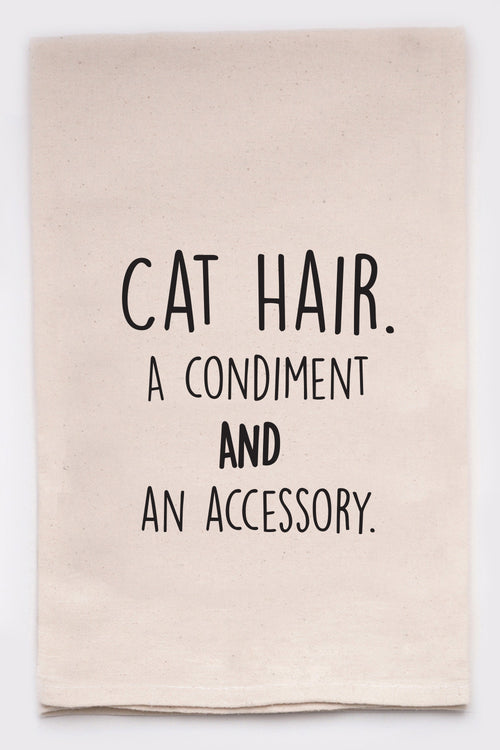 cat hair. a condiment and an accessory.