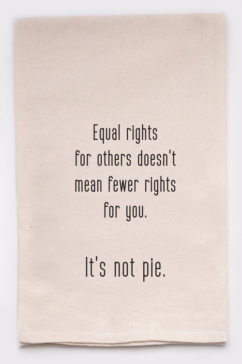 Equal rights for others doesn't mean fewer rights for you. It's not pie.