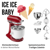 Küchenmaschine - KitchenAid 4,8l Artisan Ice Ice Baby Set