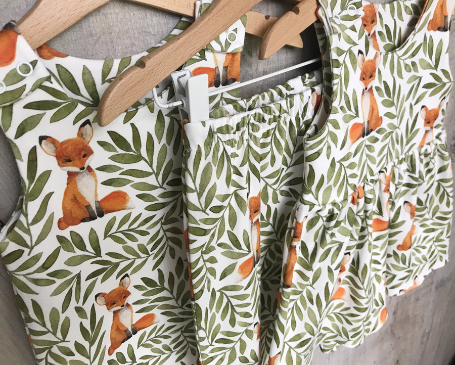 Fox and Leaves Romper