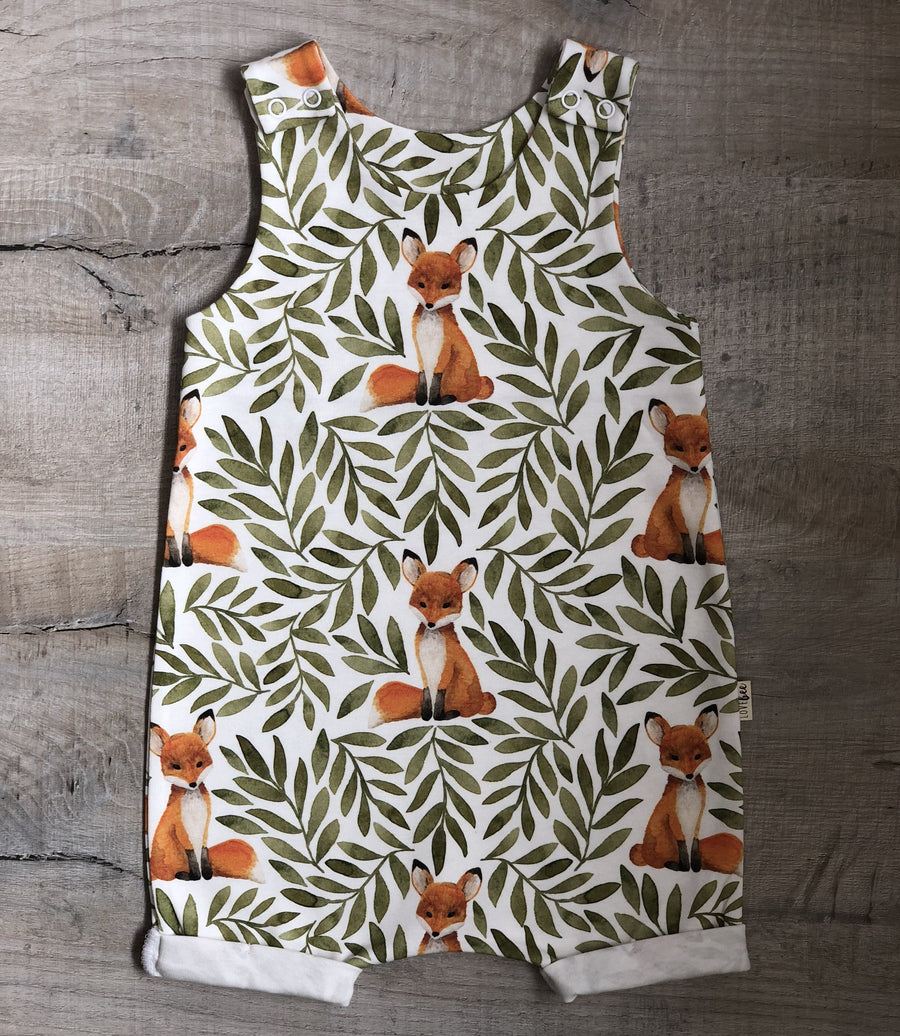 Fox and Leaves Short Romper