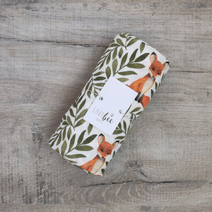 Fox & Leaves Organic swaddle blanket