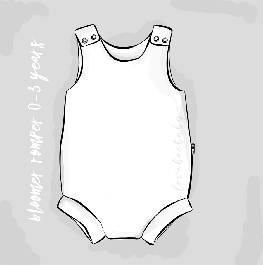 Blue whale's song Bloomer Romper