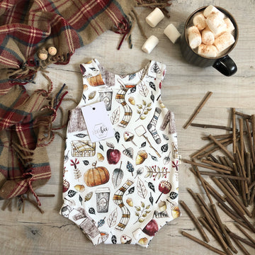 Autumn spice Bloomer Romper