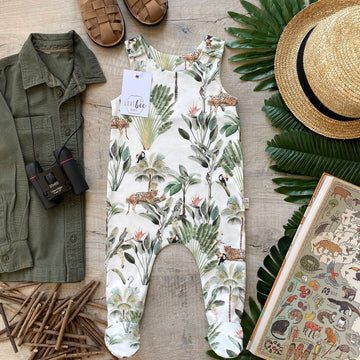 Rainforest footed Romper