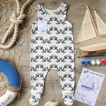 Anchor footed Romper