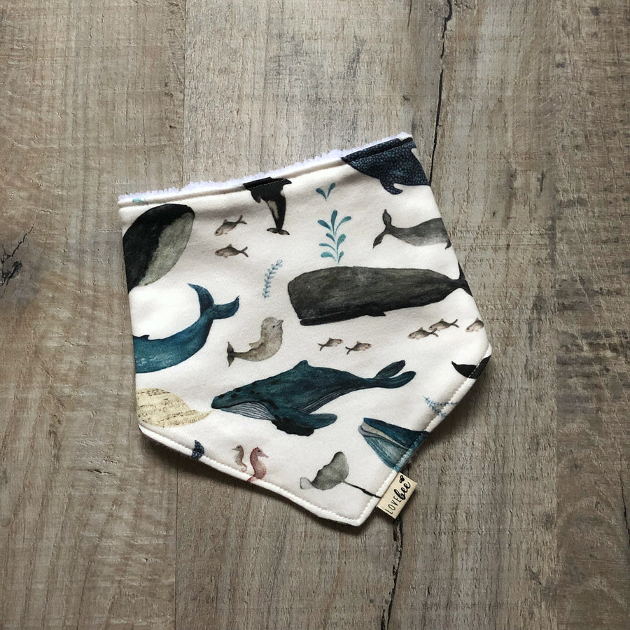 Blue whale's song Dribble Bib