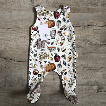 Autumn spice footed Romper