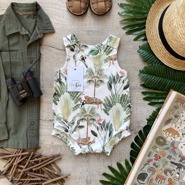 Rainforest Bloomer Romper