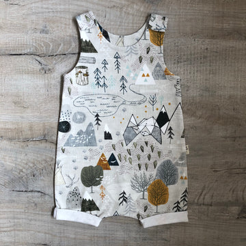 Mountains Short Romper