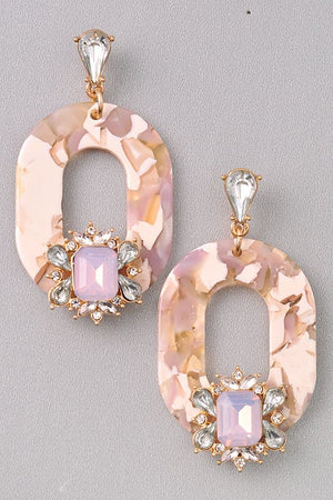 Second Star to the Right Jeweled Earrings - Beige