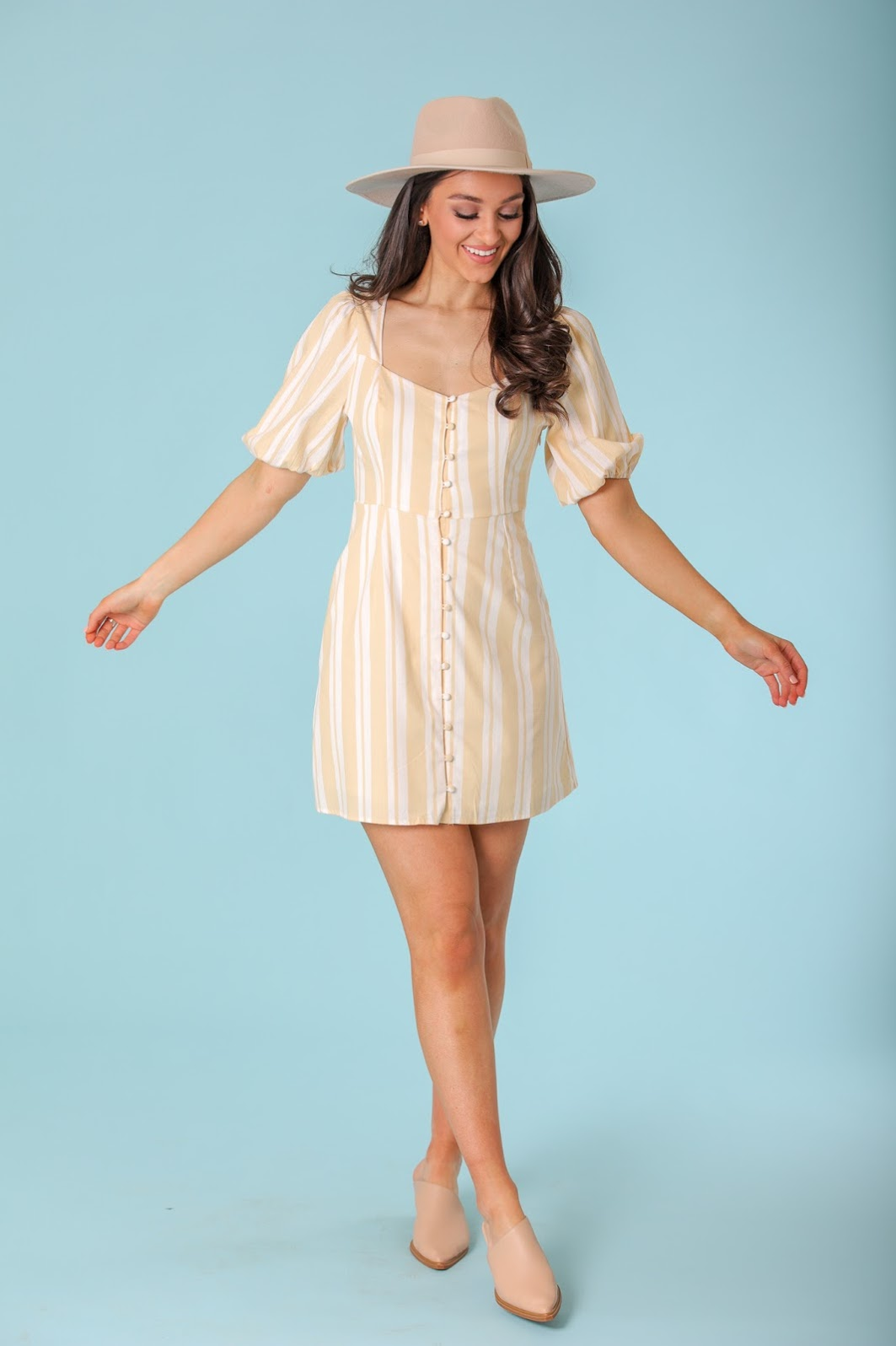 Summer Sun Sweetheart Puff Sleeve Mini Dress - Dresses - Wight Elephant Boutique