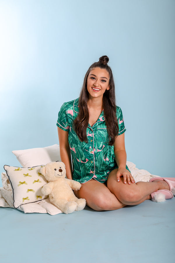 Banana Leaf Pajama Top - Tops - Wight Elephant Boutique