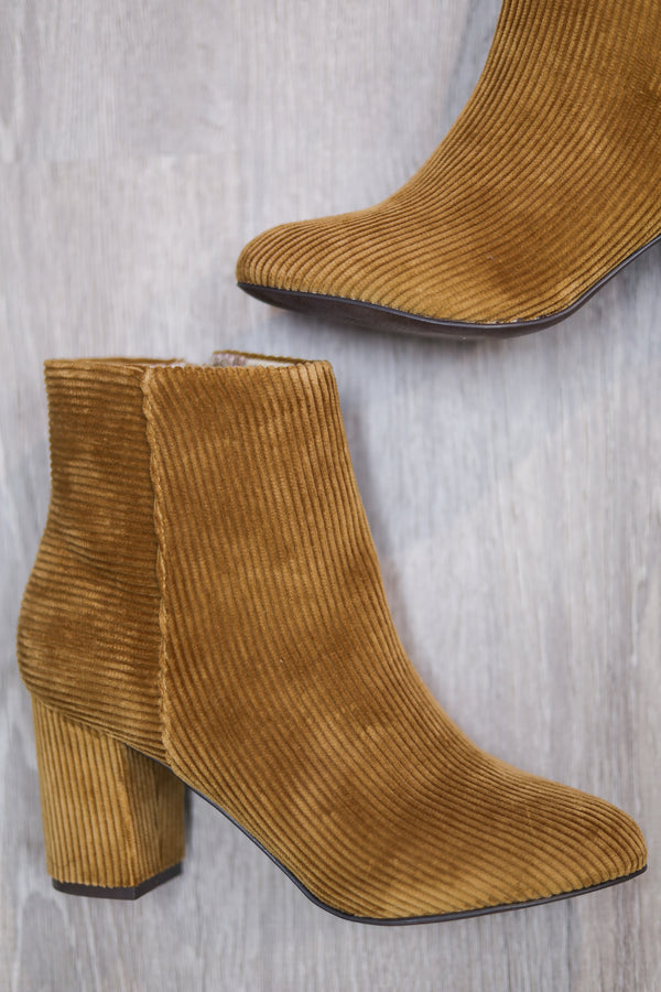 Band of Gypsies Amanda Corduroy Bootie - Shoes - Wight Elephant Boutique