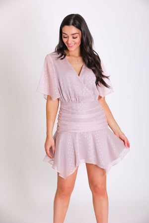 All the Stars in the Sky Ruffle Hem Dress - Dresses - Wight Elephant Boutique