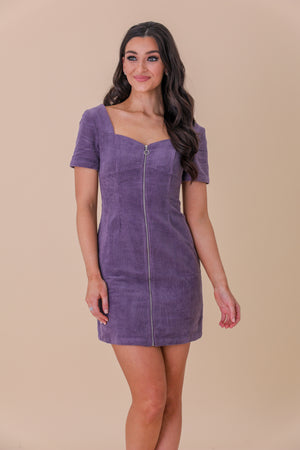 Mod and Magical Zip Detail Mini Dress - Dresses - Wight Elephant Boutique