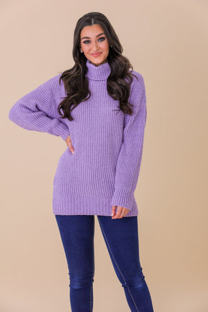 Wreath of Lavender Oversized Sweater