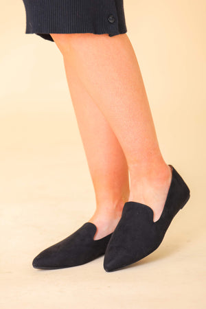 Avery Black Slip-on Loafer - Shoes - Wight Elephant Boutique