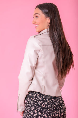 Edge of Tomorrow Faux Leather Jacket - Tops - Wight Elephant Boutique