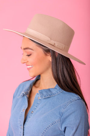 In the Shade Flat Brim Hat - Cream - Hats - Wight Elephant Boutique