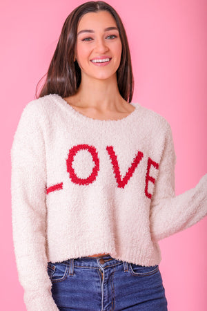 Love Berber Fleece Cropped Sweater - Tops - Wight Elephant Boutique