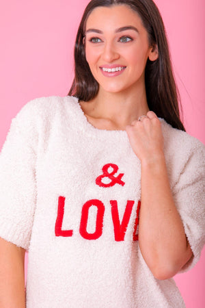 & Love Berber Fleece Sweater - Tops - Wight Elephant Boutique