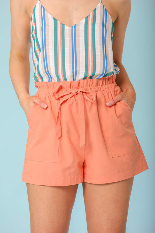 Sunset in Spring Paperbag High Waisted Shorts - Shorts - Wight Elephant Boutique