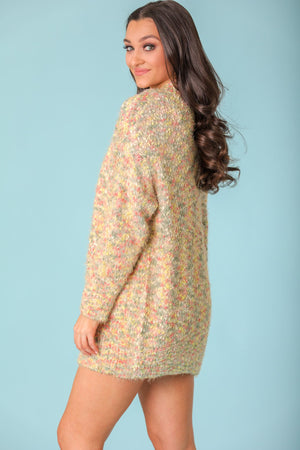 Kaleidoscope Fuzzy Confetti Popcorn Cardigan - Tops - Wight Elephant Boutique